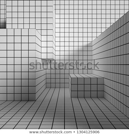 шаги дизайна искусства ткань черный Сток-фото © shawlinmohd