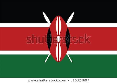Vlag republiek Kenia klein 3d man Stockfoto © Istanbul2009
