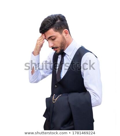 ビジネスマン · 必要 · ヘルプ · 疲れ · 小さな · 紙 - ストックフォト © wavebreak_media