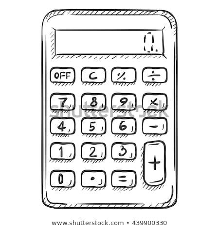 végtelenített · matematika · kézírás · minta · zöld · iskola - stock fotó © netkov1