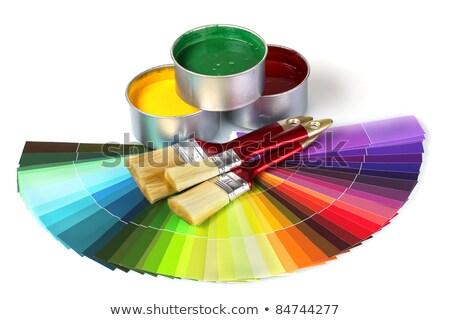 paint · brush · estanho · lata · mão · trabalhar · metal - foto stock © tetkoren