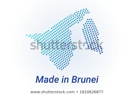 Бруней стране флаг карта форма текста Сток-фото © tony4urban
