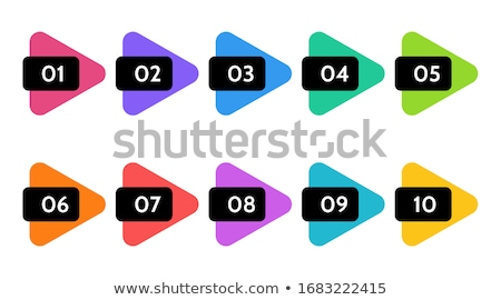 3 Number Yellow Vector Icon Button stock photo © rizwanali3d