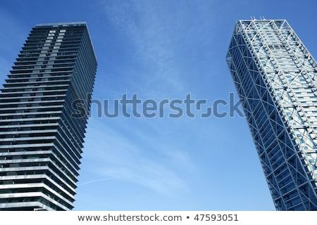 Barcelona villa város kék ég égbolt építkezés Stock fotó © lunamarina