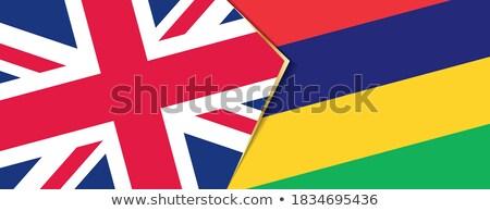 Büyük Britanya Mauritius bayraklar bilmece yalıtılmış beyaz Stok fotoğraf © Istanbul2009