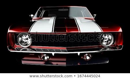 Muscle car fresco retro amarillo negro Foto stock © ClipArtMascots