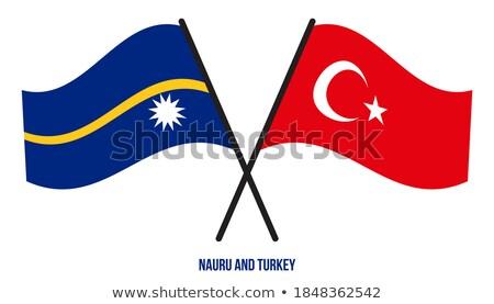 トルコ ナウル フラグ パズル 孤立した 白 ストックフォト © Istanbul2009