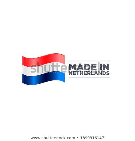 Нидерланды стране флаг карта форма текста Сток-фото © tony4urban
