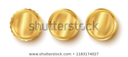 тег вектор икона дизайна золото цифровой Сток-фото © rizwanali3d