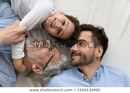 three children lying top view close up stock photo © paha_l