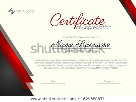 роскошь черный красный Подарочный сертификат Vintage стиль Сток-фото © liliwhite