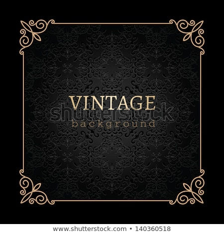 vintage · or · invitation · couvrir · dentelle · décoration - photo stock © liliwhite