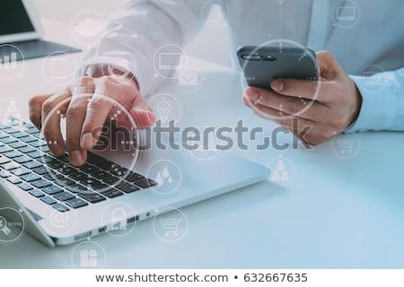 Big Data Concept on Modern Laptop Screen. Stock photo © tashatuvango