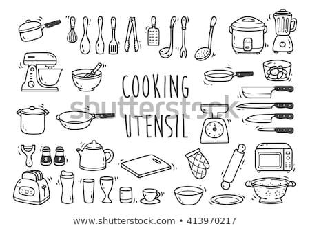 set · cucina · padella · tè - foto d'archivio © netkov1