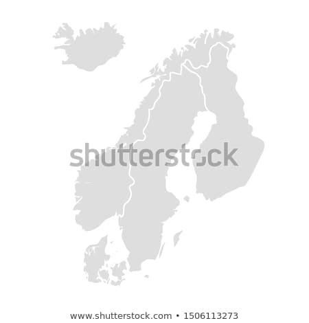 Finlândia país mapa cidade mar terra Foto stock © alex_grichenko