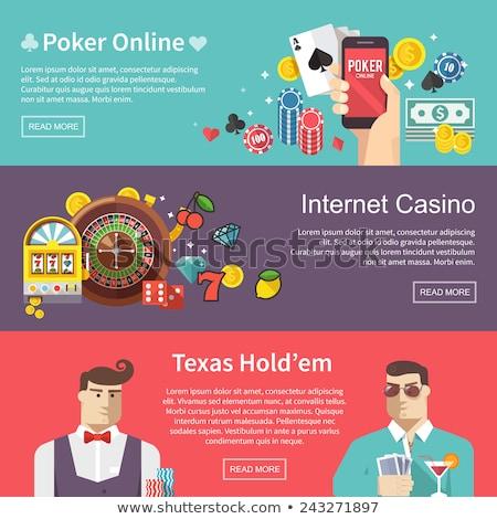 Casino And Gambling Flat Banners Set Stock photo © Genestro