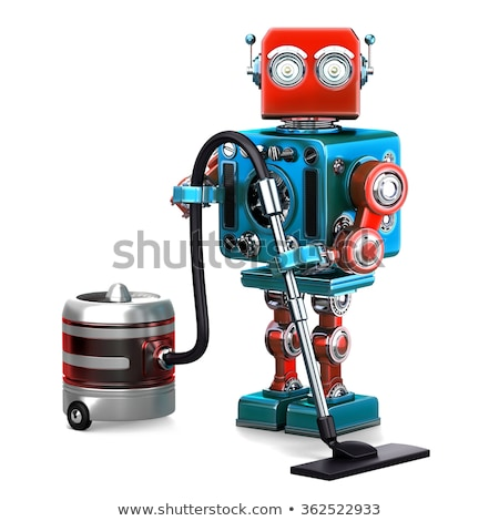 Robot cleaner. Technology concept. Isolated. Contains clipping path Stock photo © Kirill_M