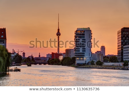 dawn at the river spree in berlin stock photo © elxeneize
