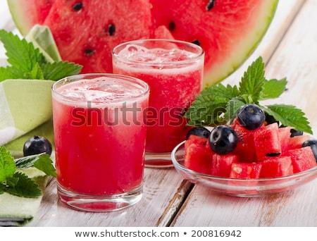 szelektív · fókusz · görögdinnye · szeletek · ízletes · friss · érett - stock fotó © stevanovicigor
