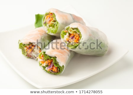 healthy vegetarian spring roll Stock photo © M-studio
