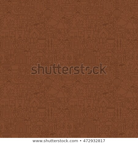 line brown summer camp tile pattern stock photo © anna_leni