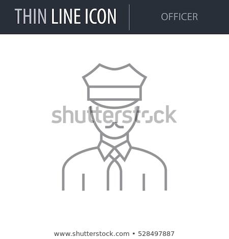 çizim güvenlik görevlisi örnek beyaz ofis arka plan Stok fotoğraf © bluering
