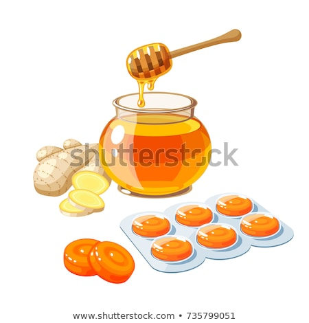 A pack of orange throat lozenges Stock photo © bluering