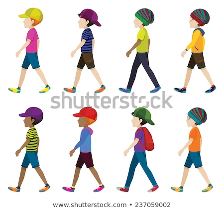 faceless children walking stock photo © bluering