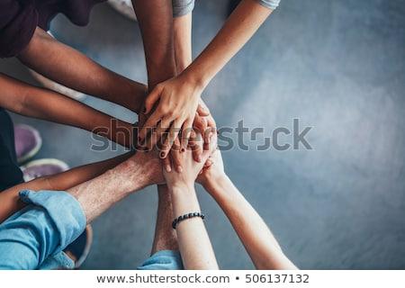 anziehend · jungen · Mann · Hände · zusammen - stock foto © lubavnel