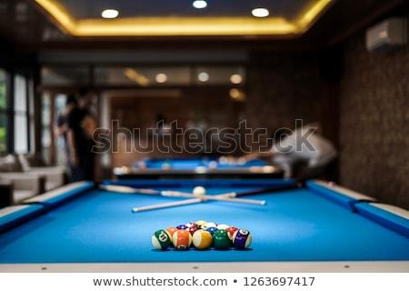 Biliárd asztal összes golyók labda játék Stock fotó © DzoniBeCool