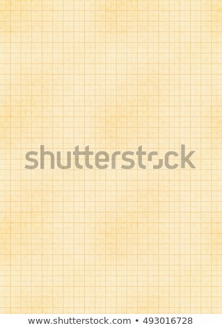 a4 size yellow sheet of old paper with engineering millimeter grid stock photo © Evgeny89