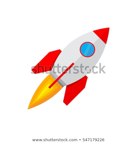 Blue and Red Rocket Icon Stock photo © cidepix