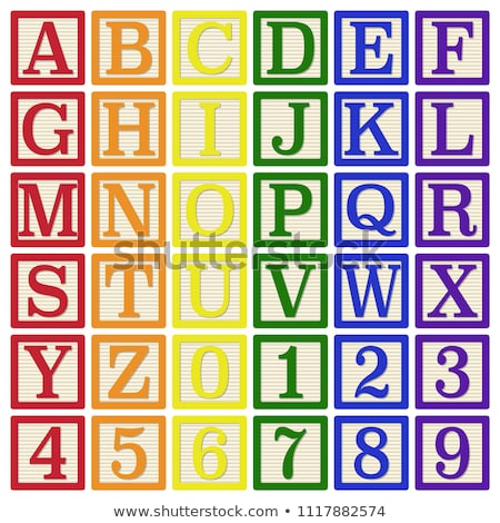 Stock photo: Complete set of rainbow alphabet letters