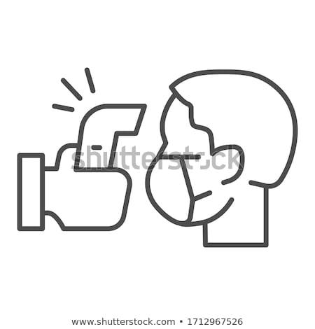 médecin · main · température · thermomètre · internet - photo stock © oleksandro