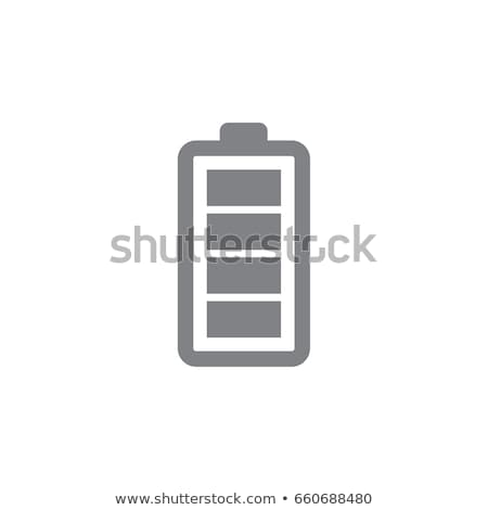 Fully charged battery buttons Stock photo © bluering