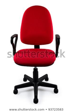 főnök · ülés · szék · irodai · szék · fekete · bőr - stock fotó © elnur
