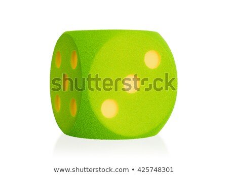 Large green foam die isolated - 3 Stock photo © michaklootwijk