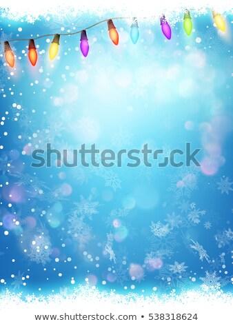 Snowflakes ans Light Garlands. EPS 10 Stock photo © beholdereye
