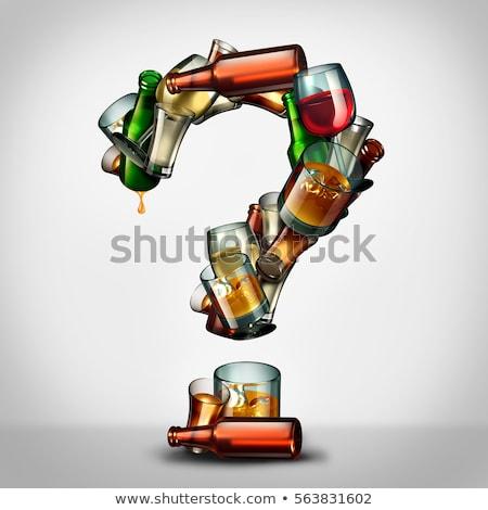 Alkohol kérdés kérdések alkoholizmus információ csoport Stock fotó © Lightsource