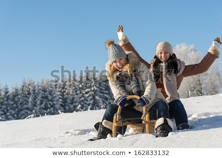 Stock photo: Portrait of two girlfriends on the nature