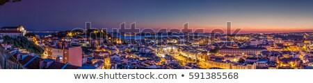 Лиссабон Skyline Португалия Панорама красивой закат Сток-фото © joyr