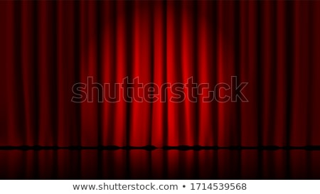 czerwony · aksamitu · kina · zasłony · teatr · etapie - zdjęcia stock © sarts