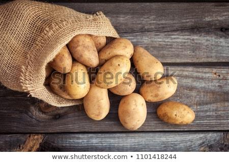 Zsák krumpli zsákvászon friss fehér étel Stock fotó © Digifoodstock