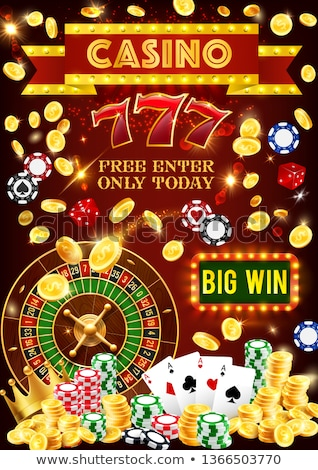 Casino Poster Roulette Card Dice Money Croupier Stock photo © robuart