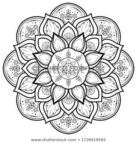 Mandala page dessinés à la main Photo stock © imagepluss