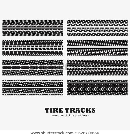 Coleção oito pneu carro estrada esportes Foto stock © SArts