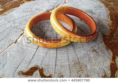Legno bracciale bianco isolato legno sfondo Foto d'archivio © homydesign