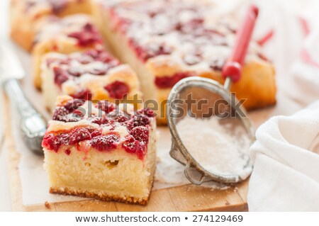 Piece of raspberry yogurt cake Stock photo © user_11224430