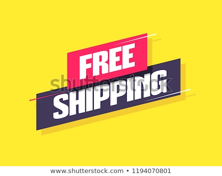 free shipping and free delivery labels stock photo © timurock