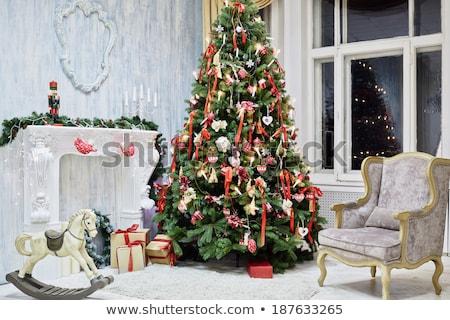 クリスマス 燭台 階 オレンジ 幸せ ストックフォト © simply